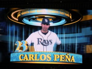Carlos Pena, Tampa Bay Rays, St Pete, FL