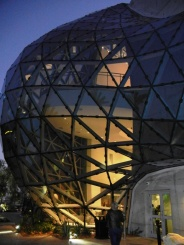 Dali Museum at Night, St Pete waterfront-photo Annalisa Weller