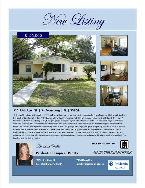 New Listing-510 35th Ave NE, St Petersburg, FL