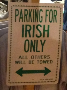 Parking for Irish only