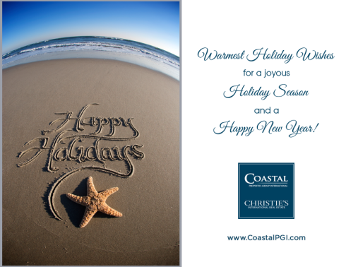 Happy Holiday beach card