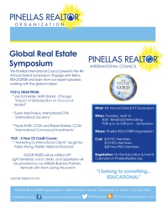 2015 Global Real Estate Symposium Flyer