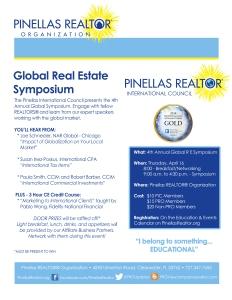 2015 Global Real Estate Symposium Flyer
