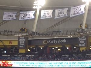 Rays banners at Tropicana