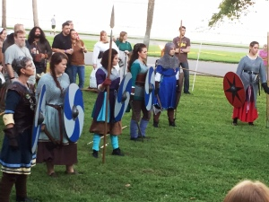 Shield maidens fighting for crown