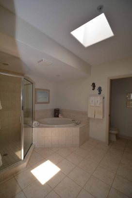 master bath with skylight vertical