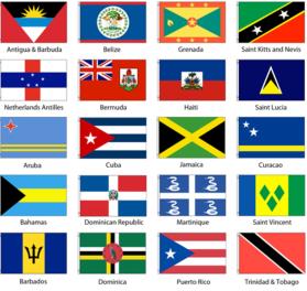 Caribbean flags