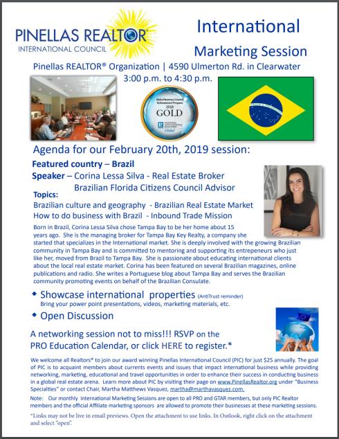feb 20, 2019 inter'l marketing corina brazil